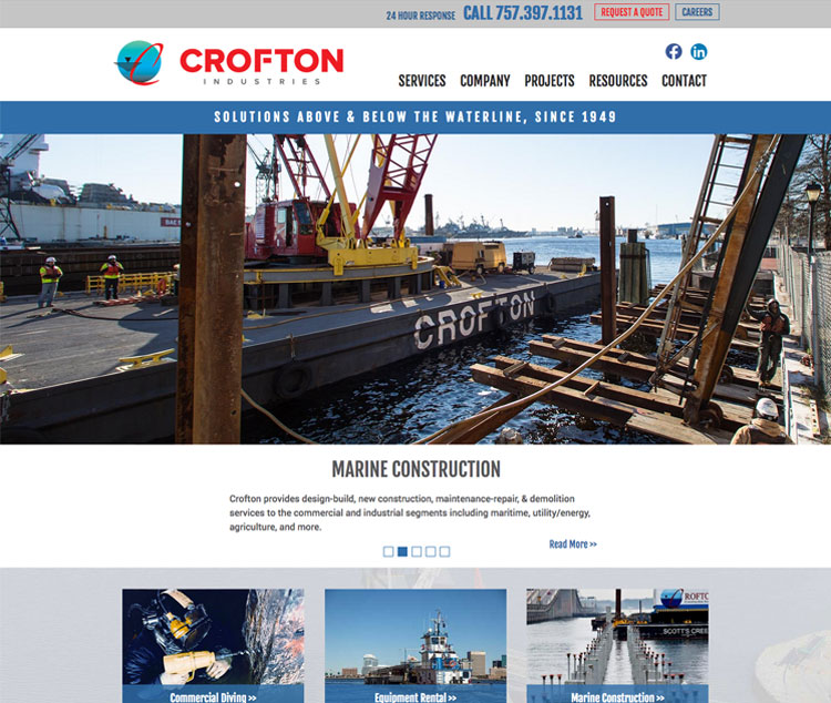 Crofton Web Design Completed By The Primm Company