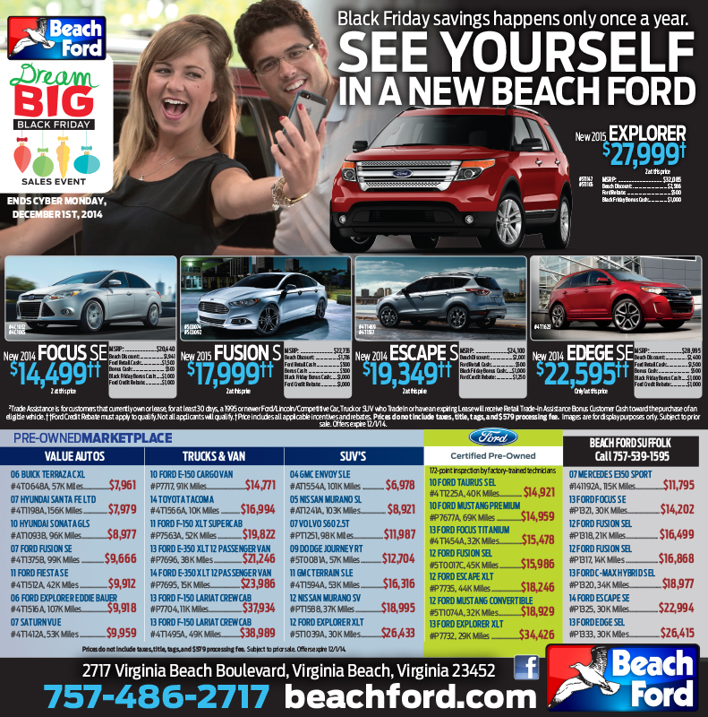 Beach Ford newspaper